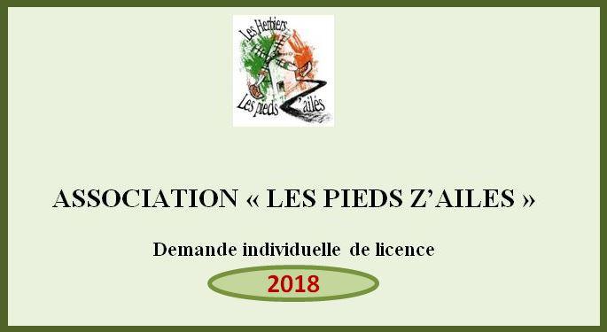 Demande de licence 2017/2018
