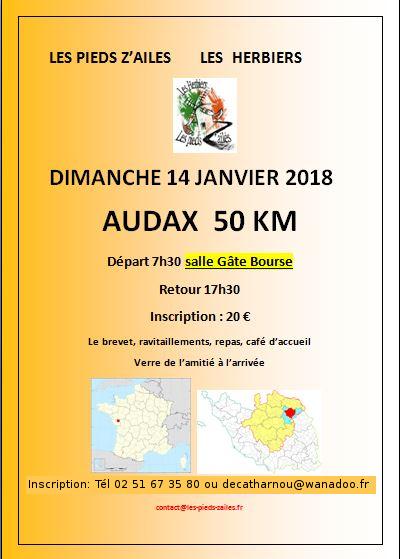 Audax 50 Km  14 janvier