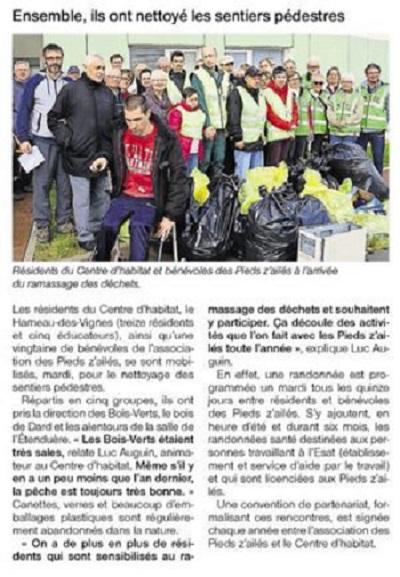 Ramassage déchets H des V -5 avril 2016