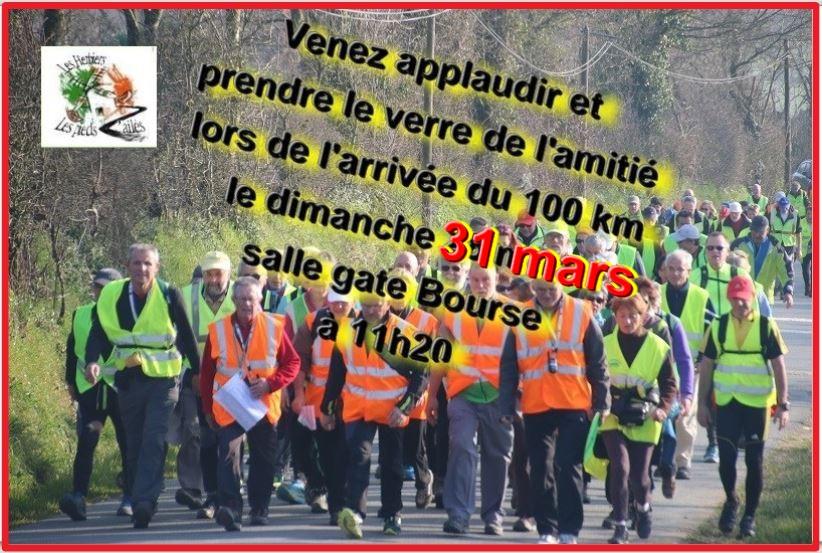 Parcours  du 100 km AUDAX DU 30/31 Mars 2019